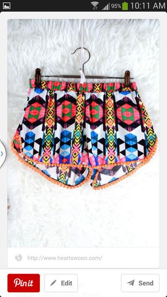 shorts aztec printed shorts bright jacket