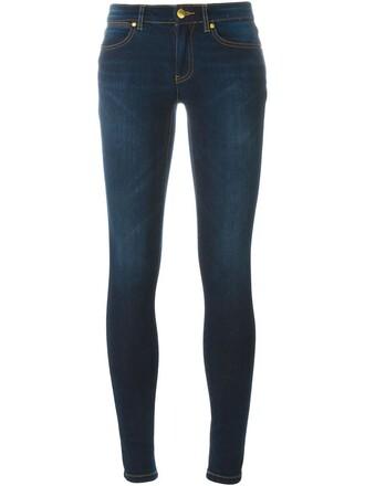 jeans women spandex fit cotton blue