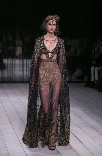 dress gown prom dress glitter glitter dress see through dress london fashion week 2016 fashion week 2016 alexander mcqueen