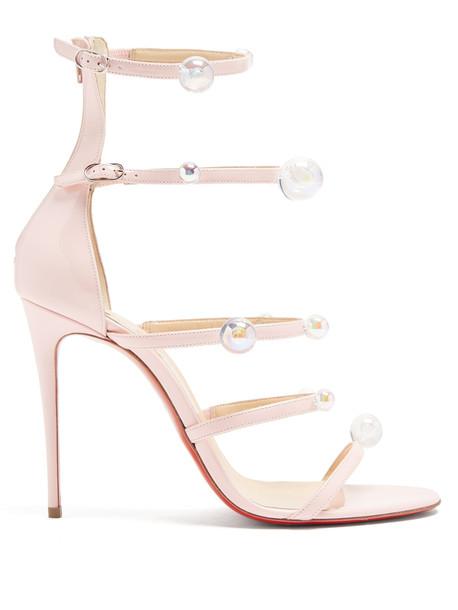 CHRISTIAN LOUBOUTIN Antonana 100 patent-leather sandals in pink / multi