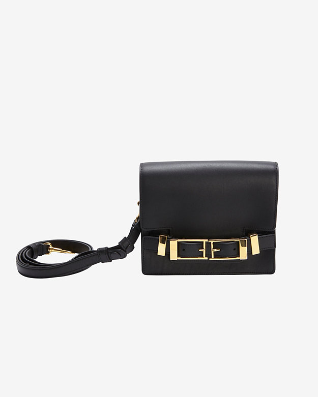 A.L.C. Davenport Double Buckle Clutch: Black | Shop IntermixOnline.com
