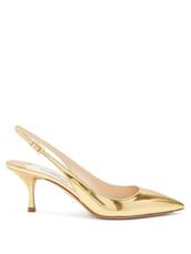 pumps,leather,gold,shoes