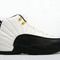 Nike air jordan retro 12 shoes white/black/gold on sale