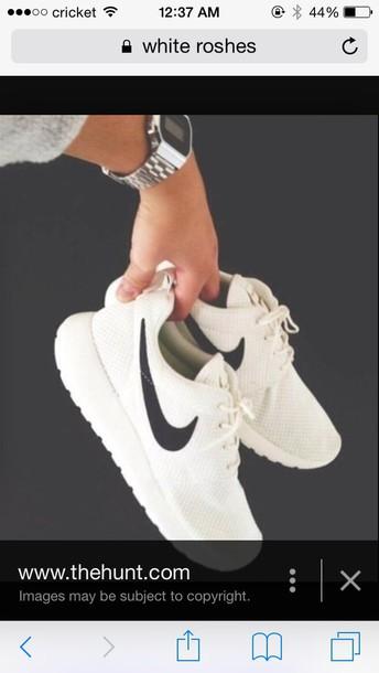 shoes white roshes dress