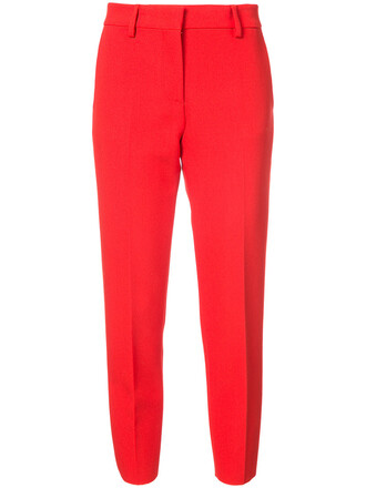cropped women spandex red pants