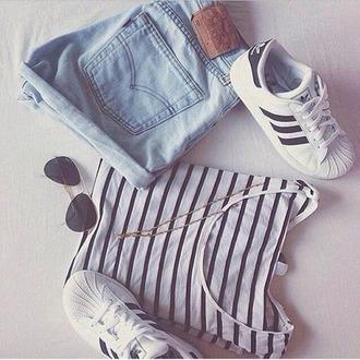 shorts short mariniere stan smith denim jeans delave shoes shirt