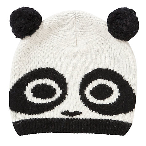 Buy John Lewis Novelty Panda Beanie, White online at John Lewis