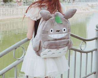 bag totoro bag grey totoro bag totoro kawaii studio ghibli my neighbor totoro backpack kawaii bag