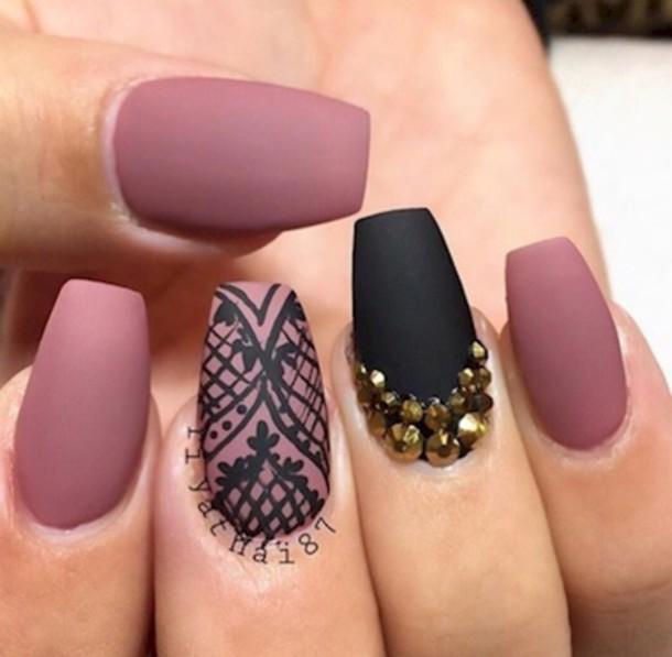 nail polish, pink, dusty pink, pink mauve - Wheretoget