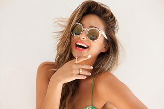 sunglasses mirrored sunglasses shay mitchell