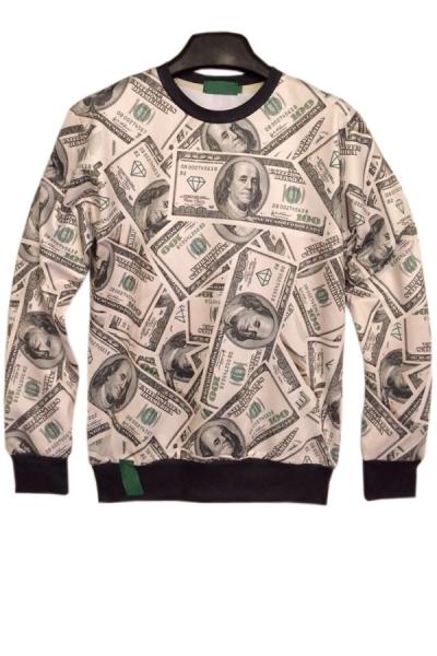 Street-chic Dollar Sweatshirt - OASAP.com