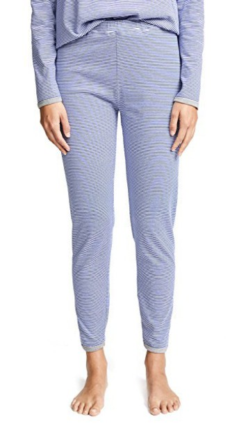 Sleepy Jones pants pajama pants mini white blue