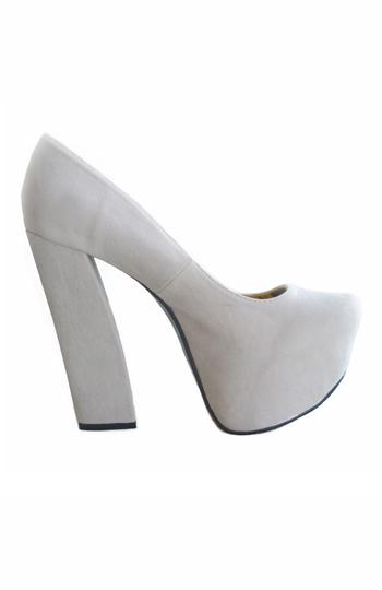 Shoes, Anne Platform Pumps- Beige
