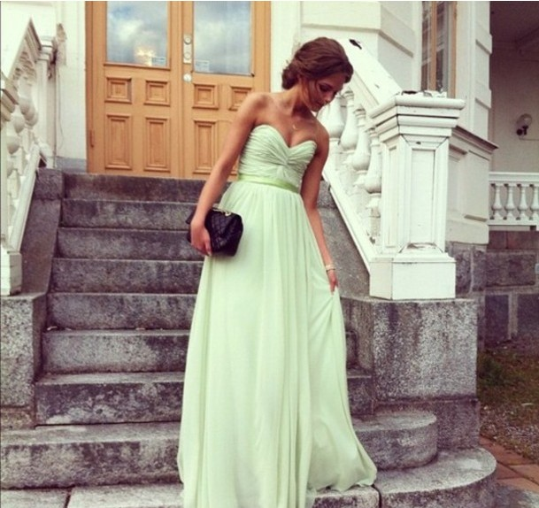 Cute And Lovely Sage A-line Sweetheart Floor Length Prom Dress/Bridesmaid Dresses/Graduation Dresses on Luulla