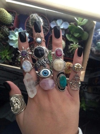 jewels boho accessories girly boho jewelry jewelry hand jewelry handcuffs knuckle ring ring rings and tings raw stone