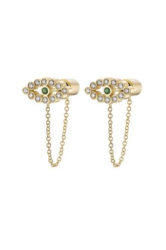 diamonds earrings gold earrings gold white yellow jewels