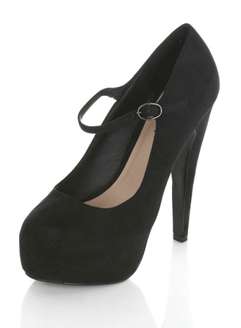 Super Black Mary Jane Heel - Miss Selfridge