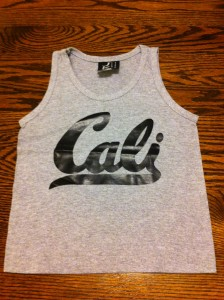 Childrens Cali tank top gray