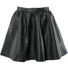 H&M High Waisted Leather Skater Skirt | eBay
