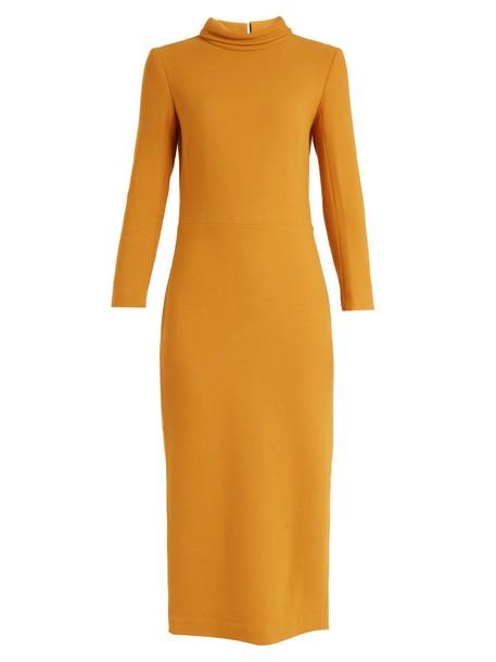 dress wool dark yellow