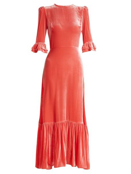 THE VAMPIRE'S WIFE dress velvet dress velvet pink