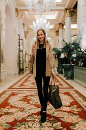 kelly in the city - a preppy chicago life,style and fashion blog,blogger,sweater,jacket,jeans,t-shirt,shoes,jewels,scarf,bag,booties,tote bag,beige coat