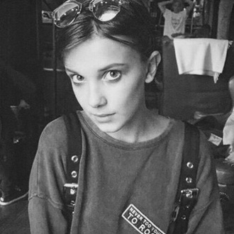 jacket never too young to rock grey millie bobby brown