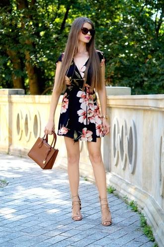 only my fashion style blogger dress bag handbag sandals high heel sandals mini dress floral dress summer dress summer outfits