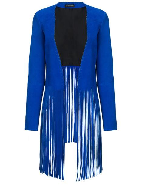 jacket suede blue