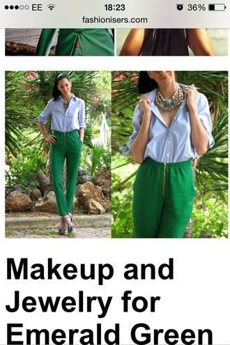 jewels green emerald bright summer top