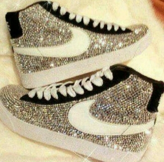 nike sneakers bright sparkling sports shoes casual