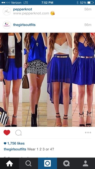 skirt blue dress blue skirt white top white crop tops white shirt aztec short blue shirt