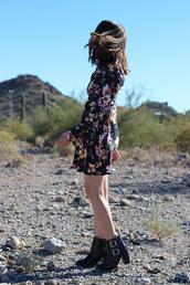 platforms for breakfast,blogger,ankle boots,floral dress