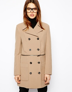 ASOS | ASOS Coat with Zip Detail at ASOS