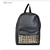 Retro Lady Women PU Leather Black Rivet Backpack Bookbag Bag A4 Free SHIP Cool | eBay