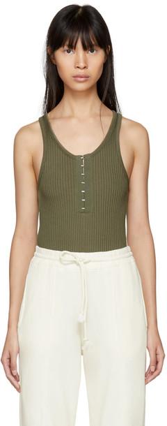 T by Alexander Wang bodysuit green underwear