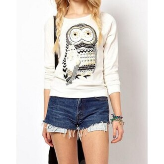 top white casual women printed animal hoodie white casual women girl girly fashion print animal printed animal hoodie outwear jeans short jeans lovely birds back to school shirt long white casual dress white casual tshirt white casual blouse casual women skirt casual women dresses printed sweater hoodie coat