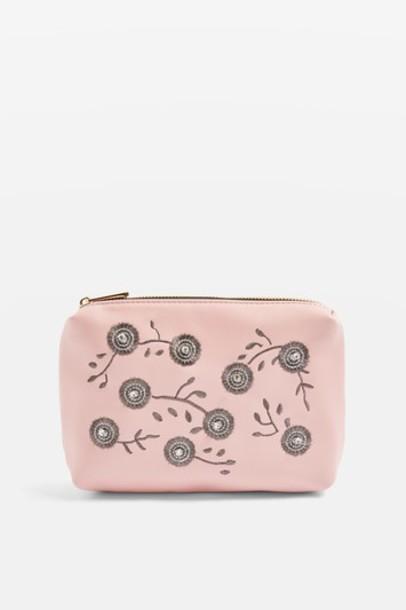 Topshop embroidered bag pink
