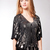 Sky Greek Sequin Top in Black  [SKY-J183TM] - $49.50 : Manhattanite