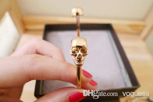 Fashion european and american jewelry personalized retro punk style skull openings bracelet female fashion bracelet s45078