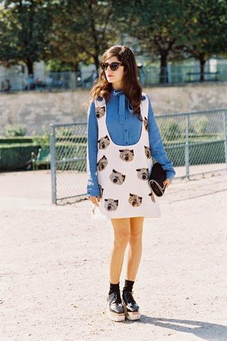 vanessa jackman blogger cats blue shirt