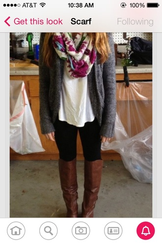 cardigan scarf shoes