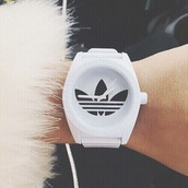 jewels,white,black and white,adidas,watch,adidas watch