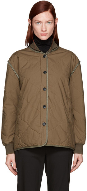 rag and bone jacket quilted green