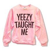 sweater,pink,sweatshirt,warm,dope,yeezy,kanye west,pink and black,black,urban pastel pink