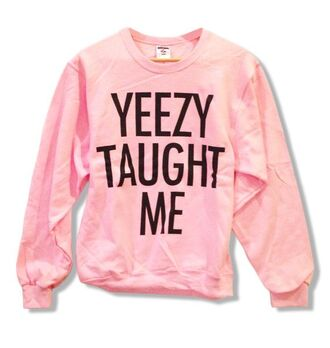 sweater pink sweatshirt warm dope yeezy kanye west kanye pink and black black urban pastel pink