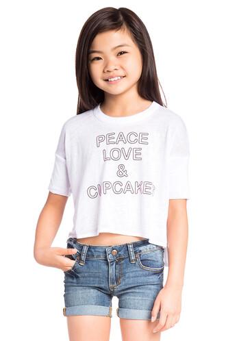 love peace white top