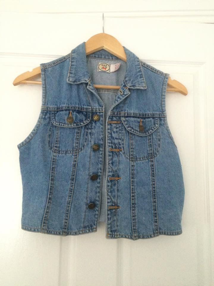 Blue denim indie vest