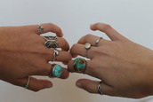 jewels,blue,ring,silver,butterfly,elephant,stone,infinity,boho,hippie,indie,hipster,jewelry,turquoise,turquoise jewelry