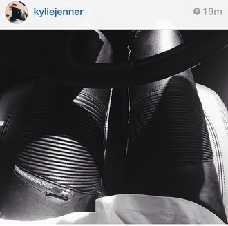 leggings kylie jenner pants black jeans cuire black pants zara cute leather girly chic